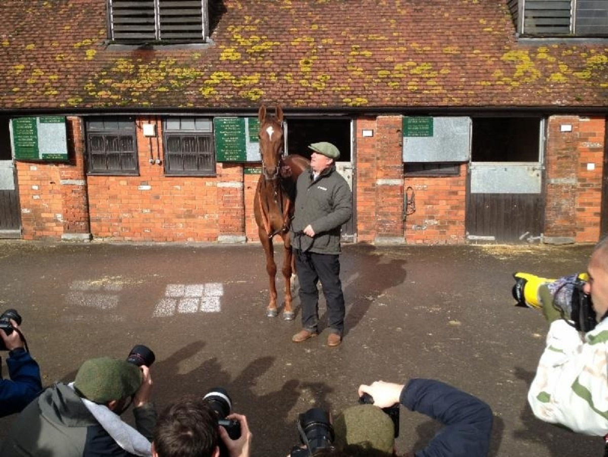 Paul Nicholls with his Gold Cup hopeful Silviniaco Conti