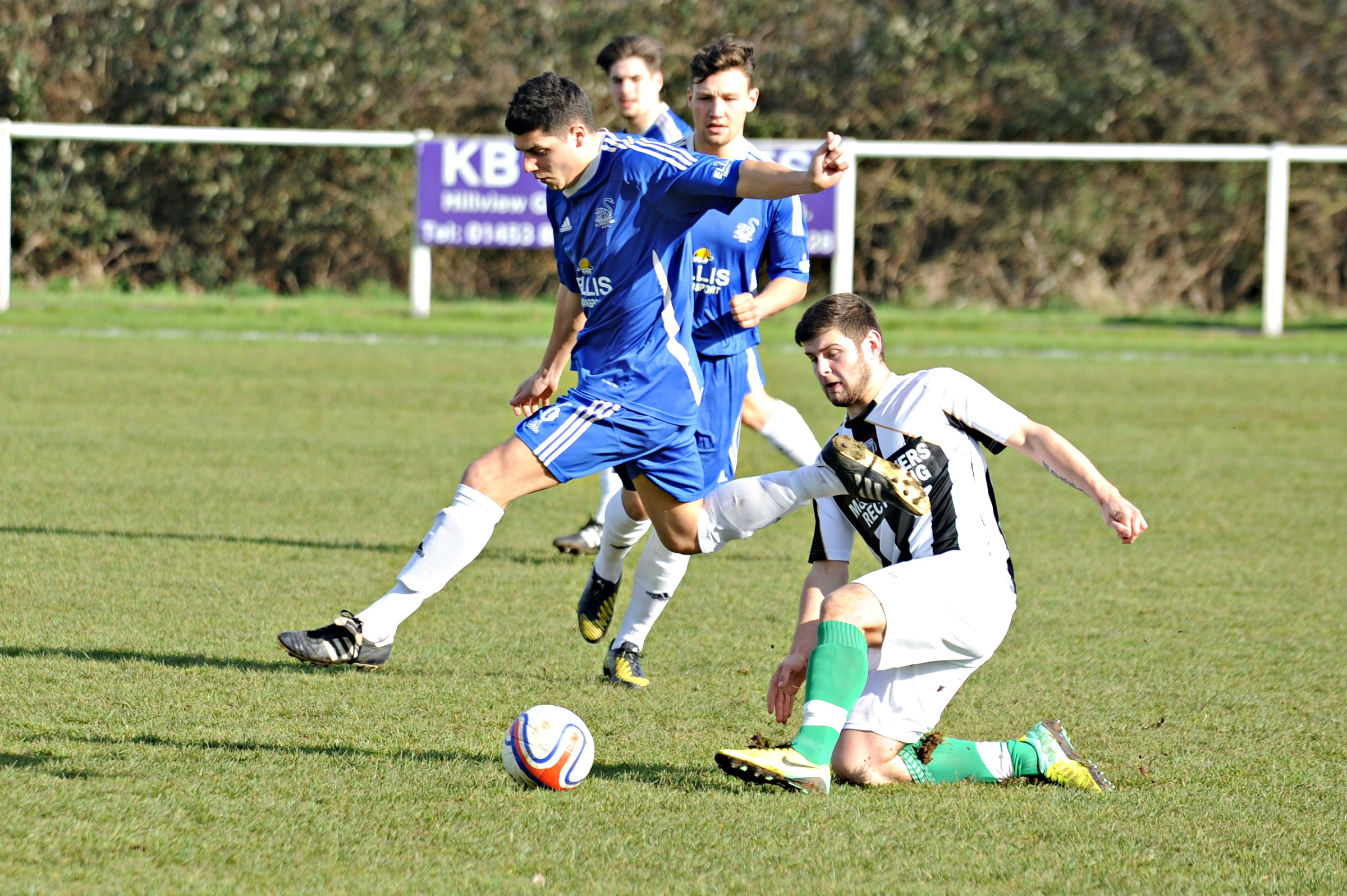 Jack Twyman scored Slimbridge's second goal