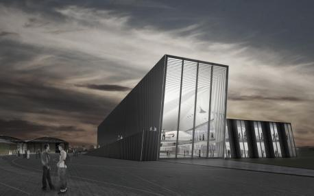 An artist's impression of the new aerospace museum set to be built to house Concorde in Filton