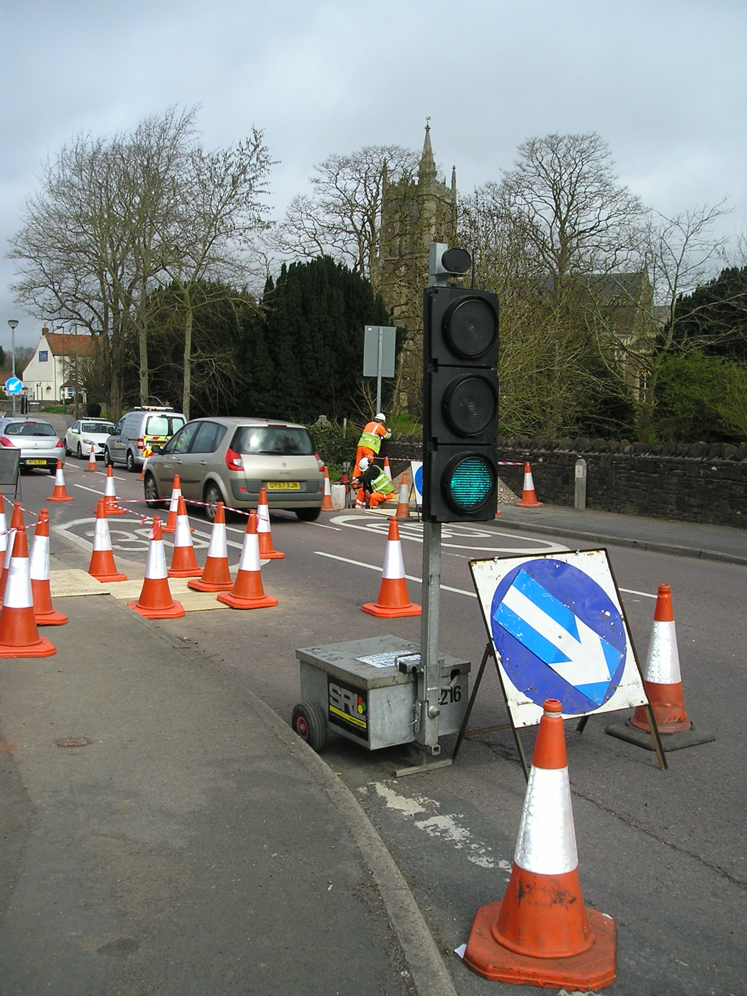 Preliminary works on Church Road, Frampton Cotterell have started