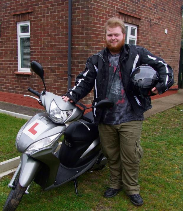 Gazette Series: Brandon Rowat with his new scooter  (4930061)