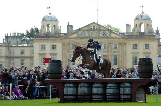 Mark Todd at the Badminton Horse Trials