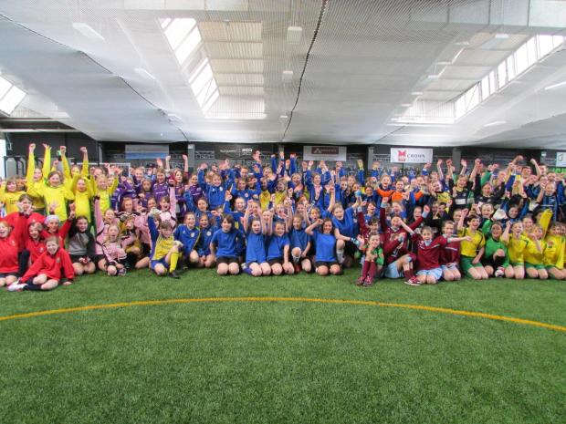 Primary school girls show off their skills in Stroud district-wide football tournament (4942983)