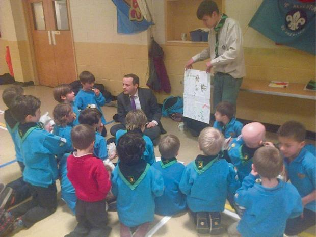 Thornbury  and Yate MP Steve Webb facing questions from the 2nd Alveston Beavers (4994693)