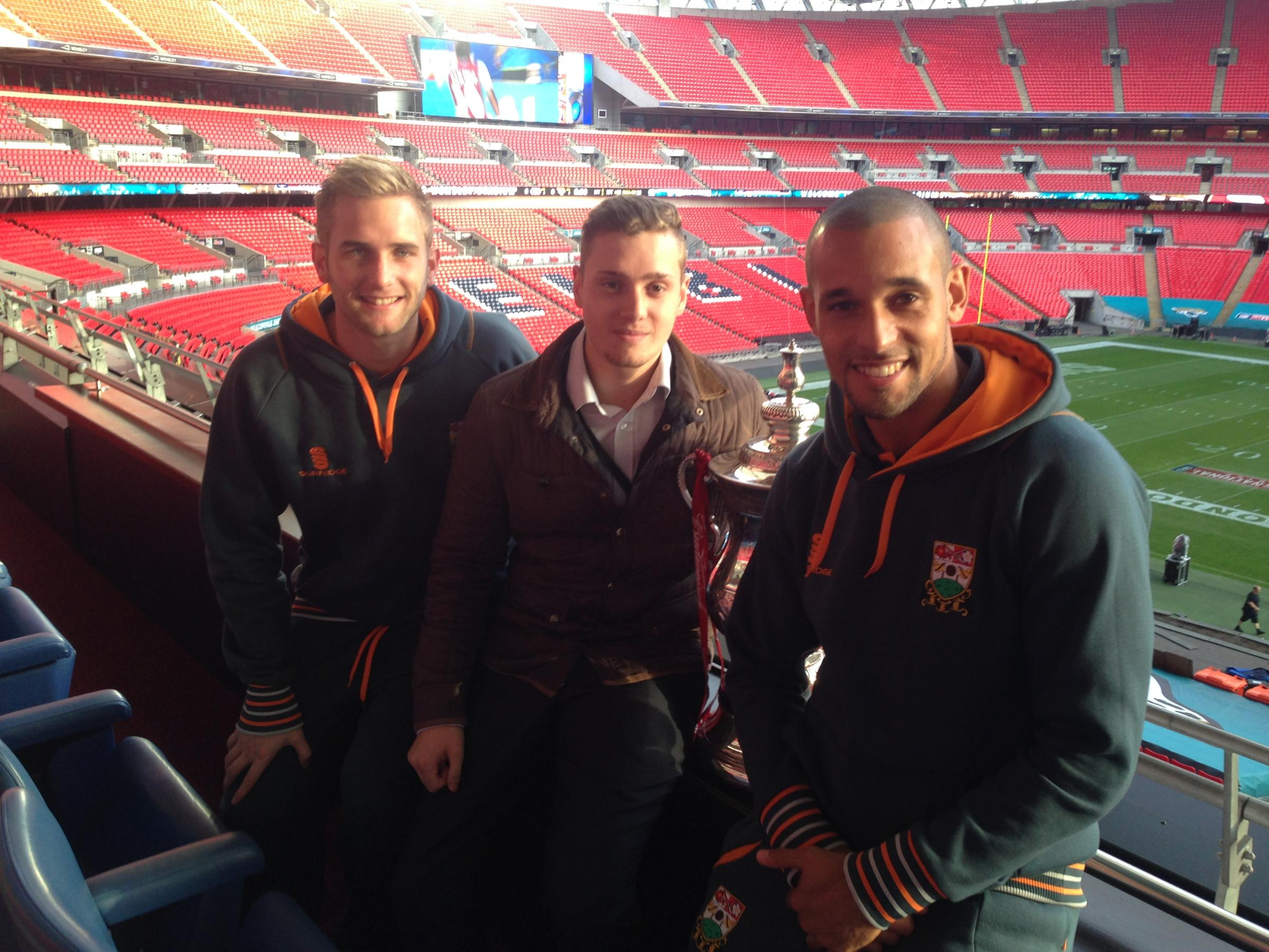 Oscar Chamberlain ( middle) with Barnet duo Nick Jupp and Curtis Weston