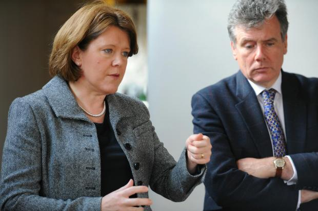 Gazette Series: Secretary of State for culture, media and sport Maria Miller visits Stroud MP Neil Carmichael (4928434)