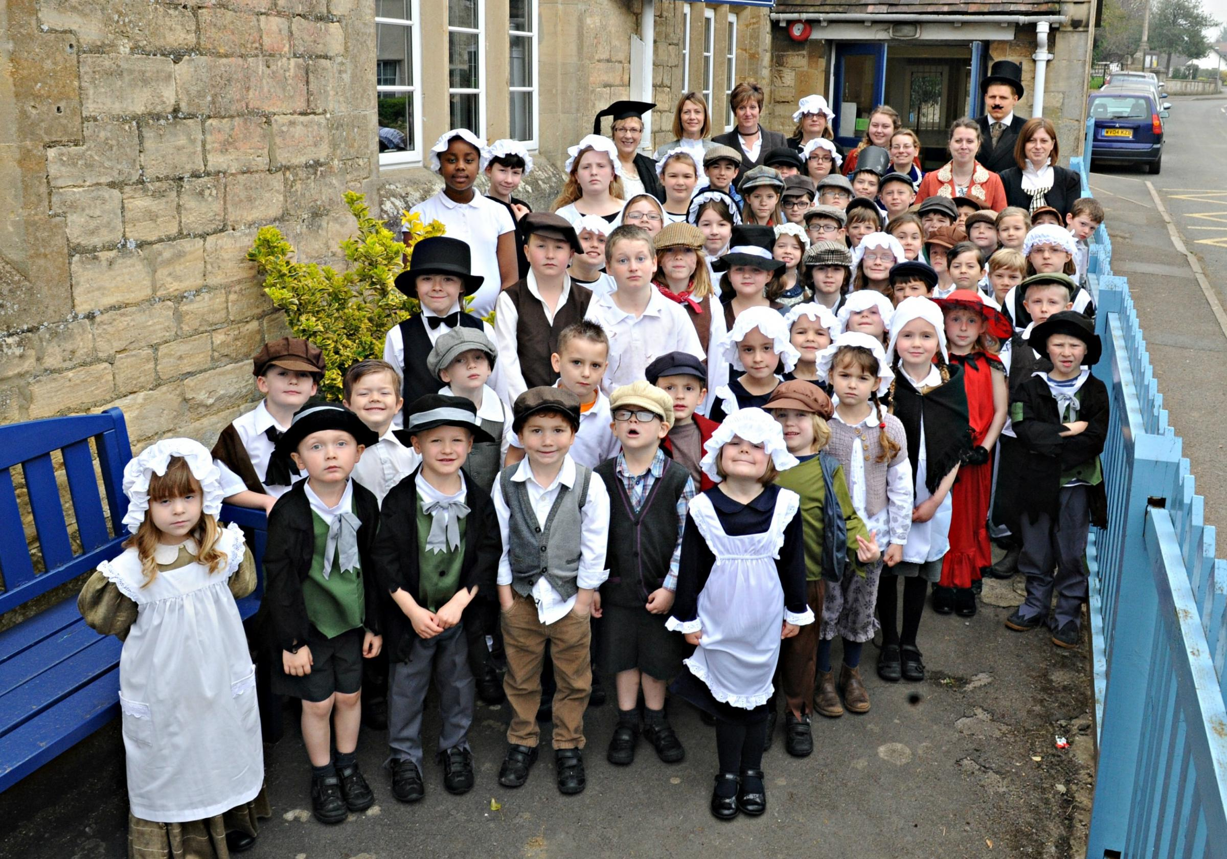 Coaley Primary School dresses up for Victorian day