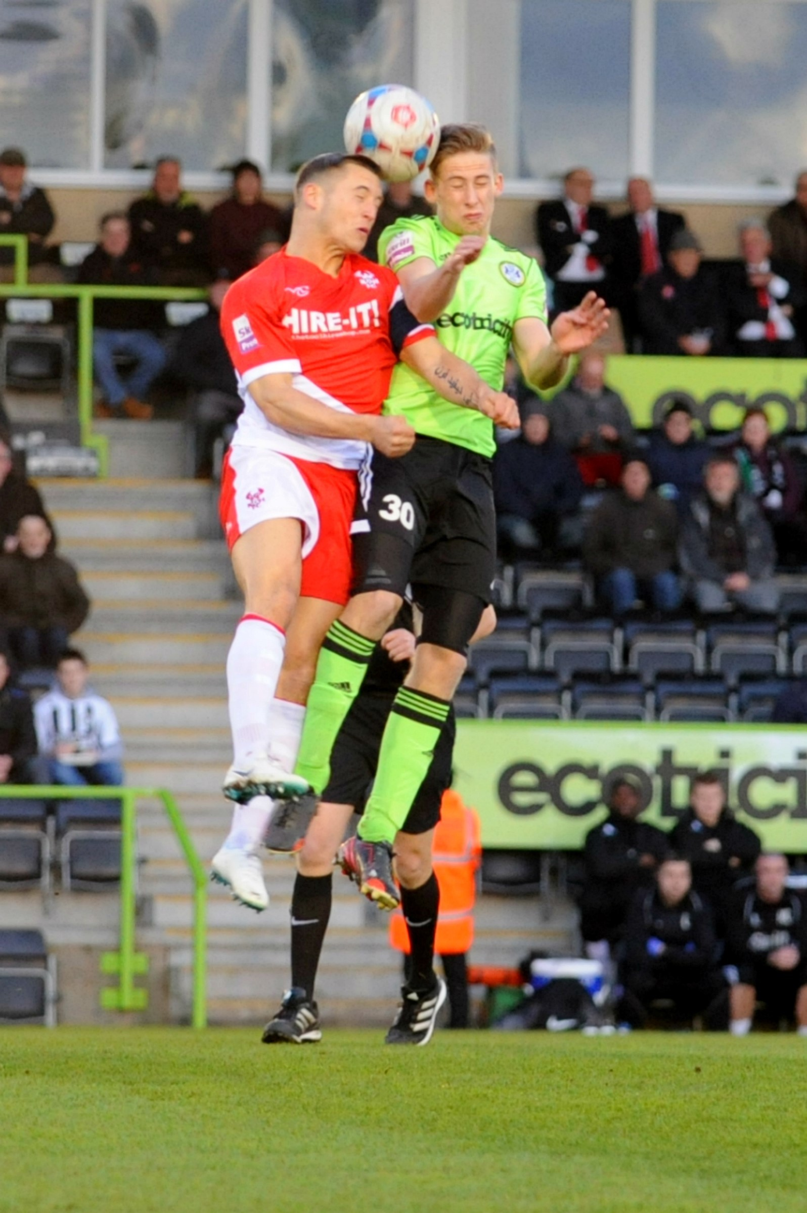 Football: Overturned 'goal' decision earns Forest Green a point