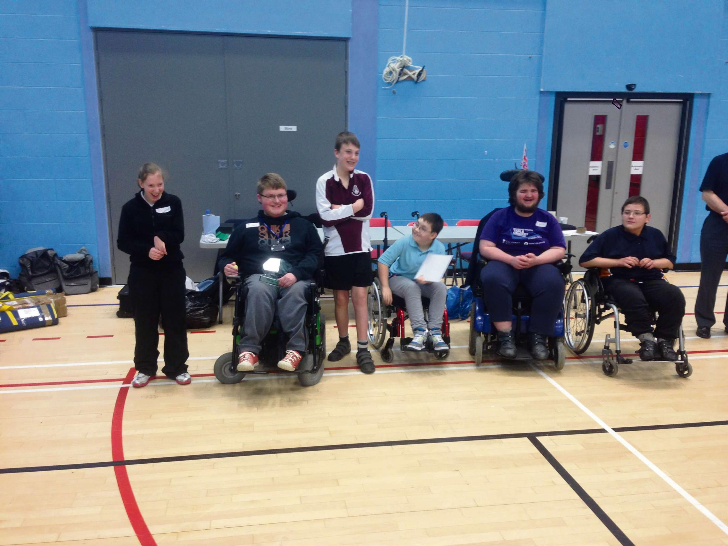 South Glos A's winning table cricket team