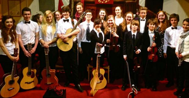 Talented musicians from Dursley held at concert to raise money for the new Dursley Youth Centre, currently under construction (5394262)