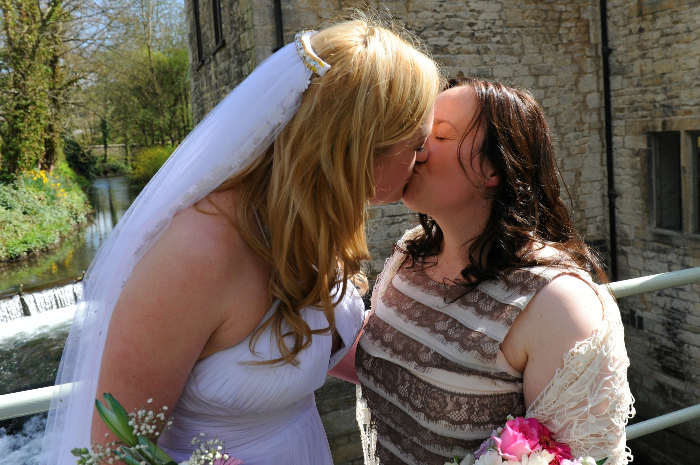 Lorretta and Eve become first same-sex couple in the Five Valleys to tie the knot