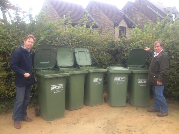 Gazette Series: Councillors Ben Stokes and Steve Reade are furious at the cost of implementing the green bin charge