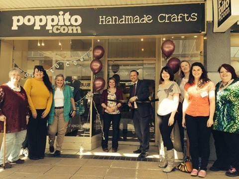 Thornbury and Yate MP Steve Webb opens the Poppito pop-up shop in Yate