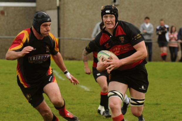 James Wood charging through the Chard defence on Saturday