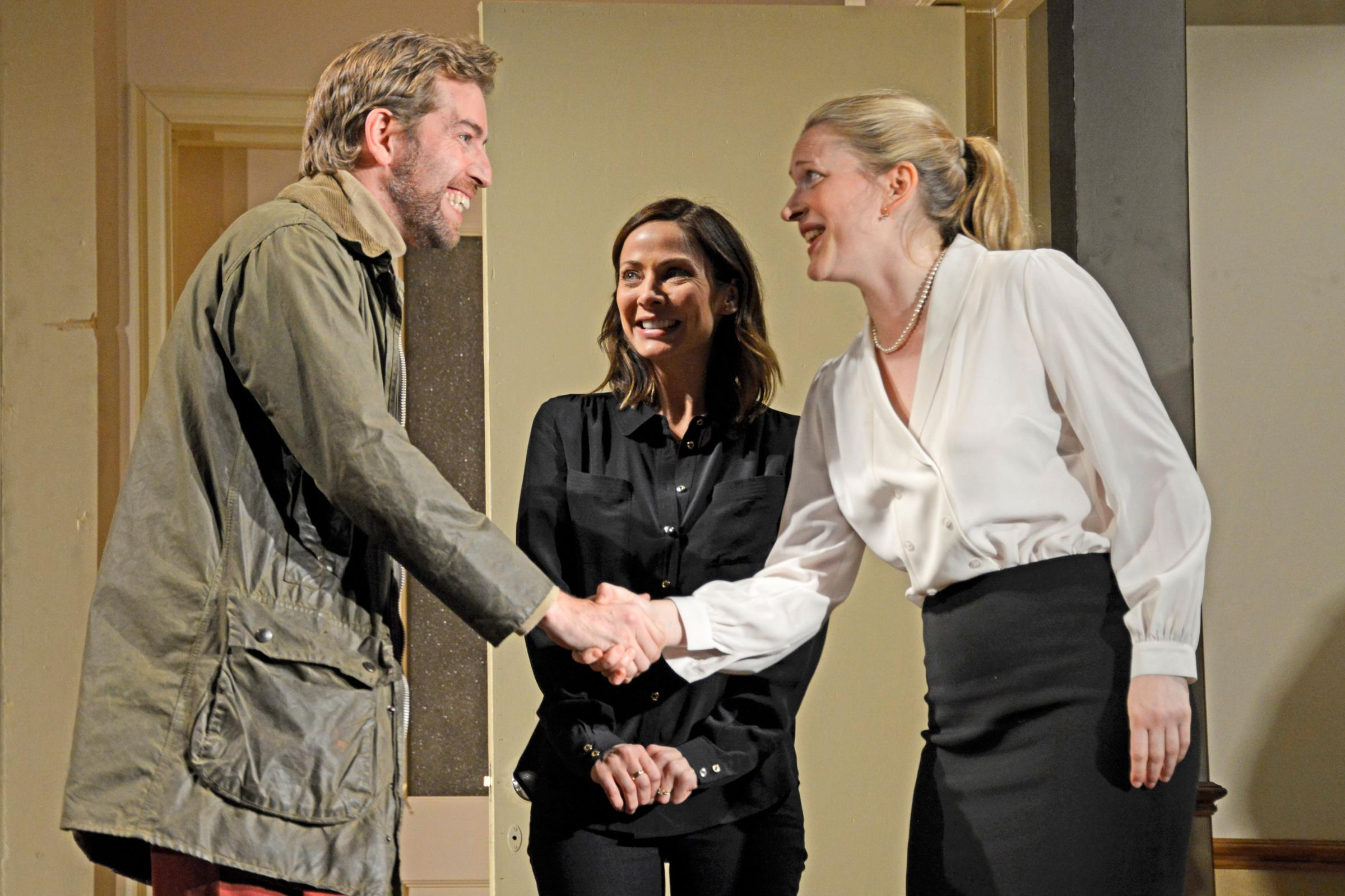 Edward Bennett, Natalie Imbruglia and Claire Price in The Things We Do For Love (photo Nobby Clark)