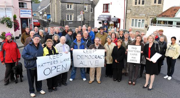 Business owners fought tooth and nail against the closure of Hatters Lane in 2012. The road is due to be shut for roadworks next week.