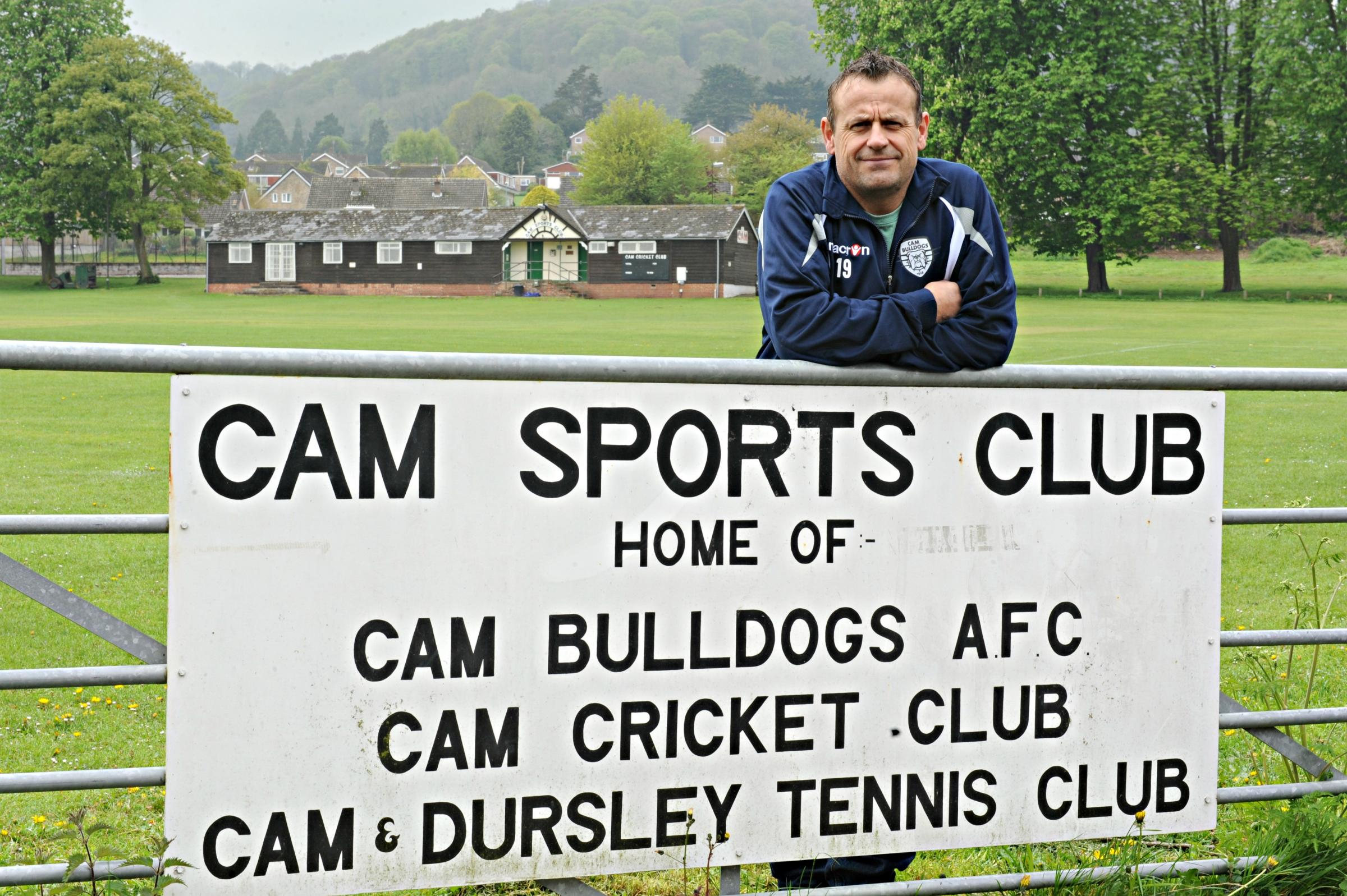 Cam Bulldogs chairman Stuart Grimwood at their ground
