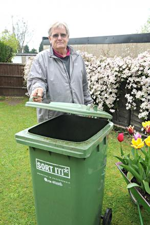 Peter Mainstone of Buckingham Parade in Thornbury with his green bin