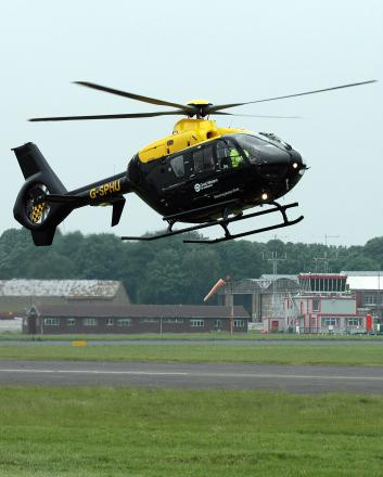 The police helicopter was scrambled in the search