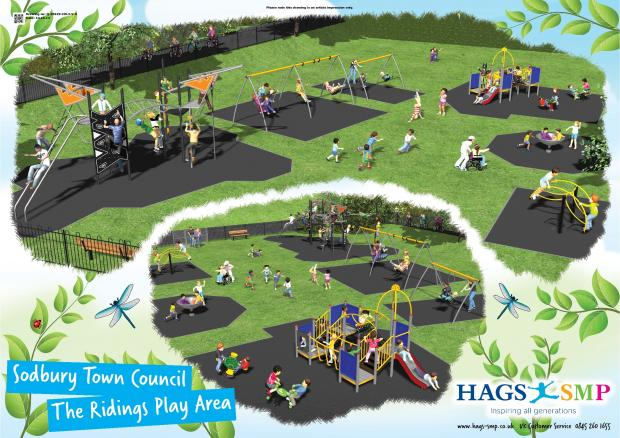 How the new play area in Chipping Sodbury will look