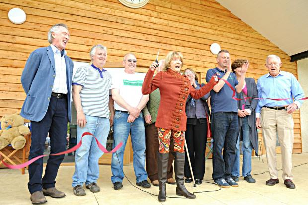 Dame Gilly Lynne cut the ribbon to officiallly open the Uley memorial pavillion on Monday (5951457)