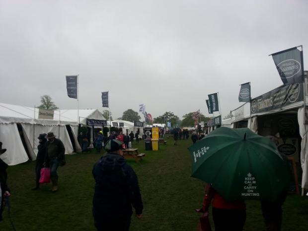 Rain didn't stop play during the first day of Badminton Horse Trials