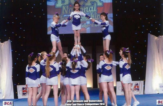 Dursley Diamonds Cheer Squad came in the top ten at the Telford BCA Nationals (6047284)