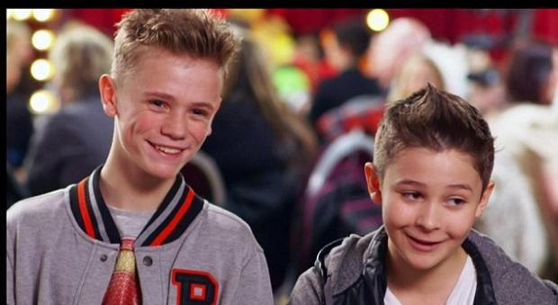 Charlie Lenehan, left, and Leondre Devries on Britain's Got Talent
