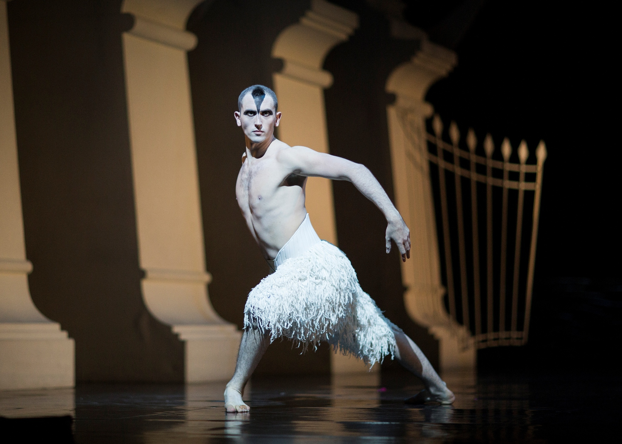 Chris Trenfield as The Swan in Matthew Bourne's Swan Lake. Photo by Helen Maybanks (6177674)