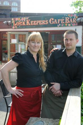 Proprietors of the Lockkeeper's Cafe Bar in Stroud, Wendy Townsend and son Lee, are having to close their business after their rent was increased by 320%