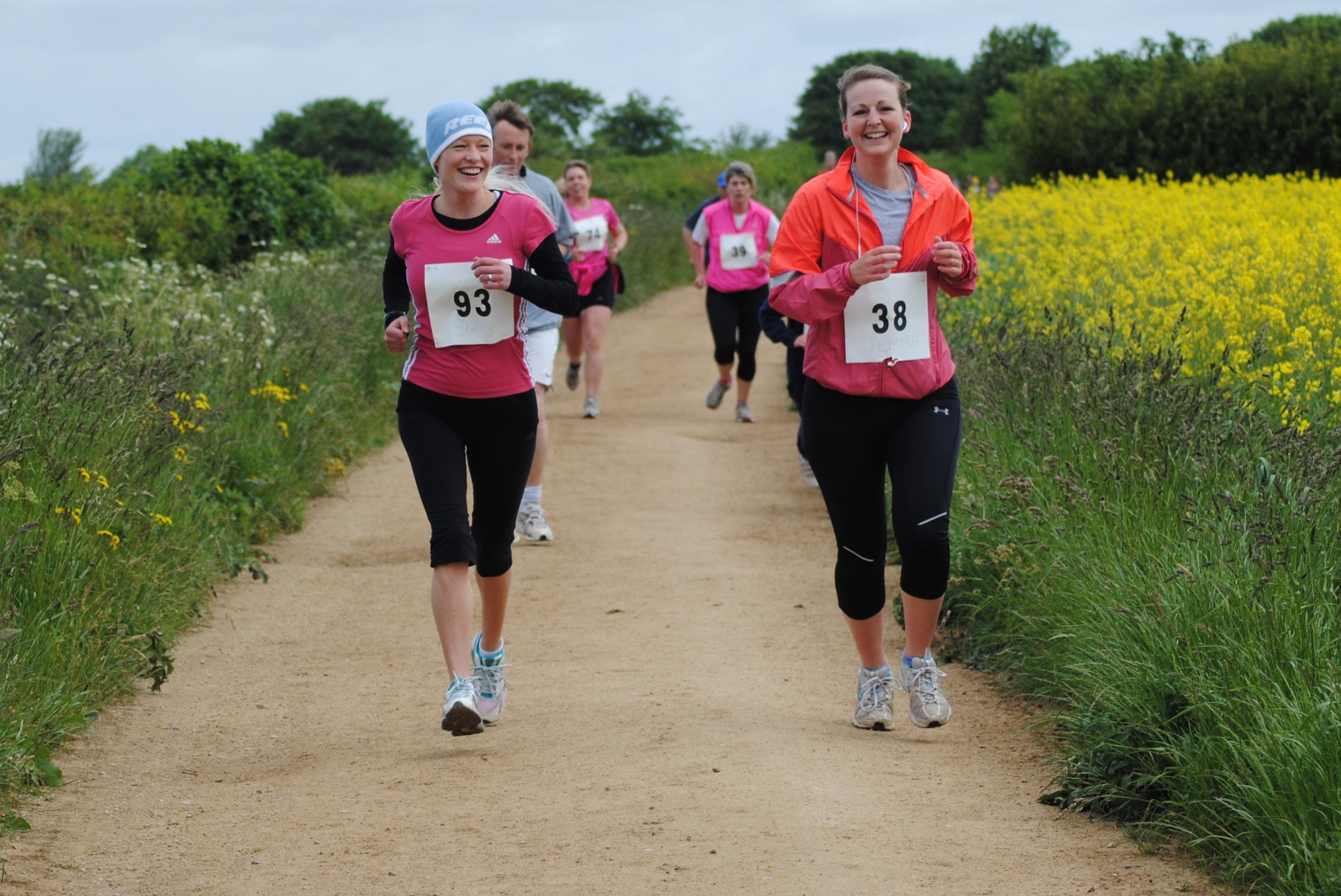 Runners at last year Hawkesbury Upton 5K