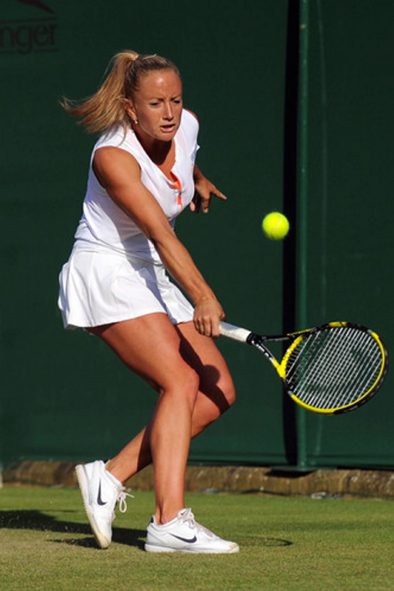 Emily Webley-Smith playing at Wimbledon in 2011