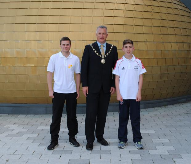 Robert Phillips, chairman of South Gloucestershire Council Cllr Ian Boulton and Adam Wilson