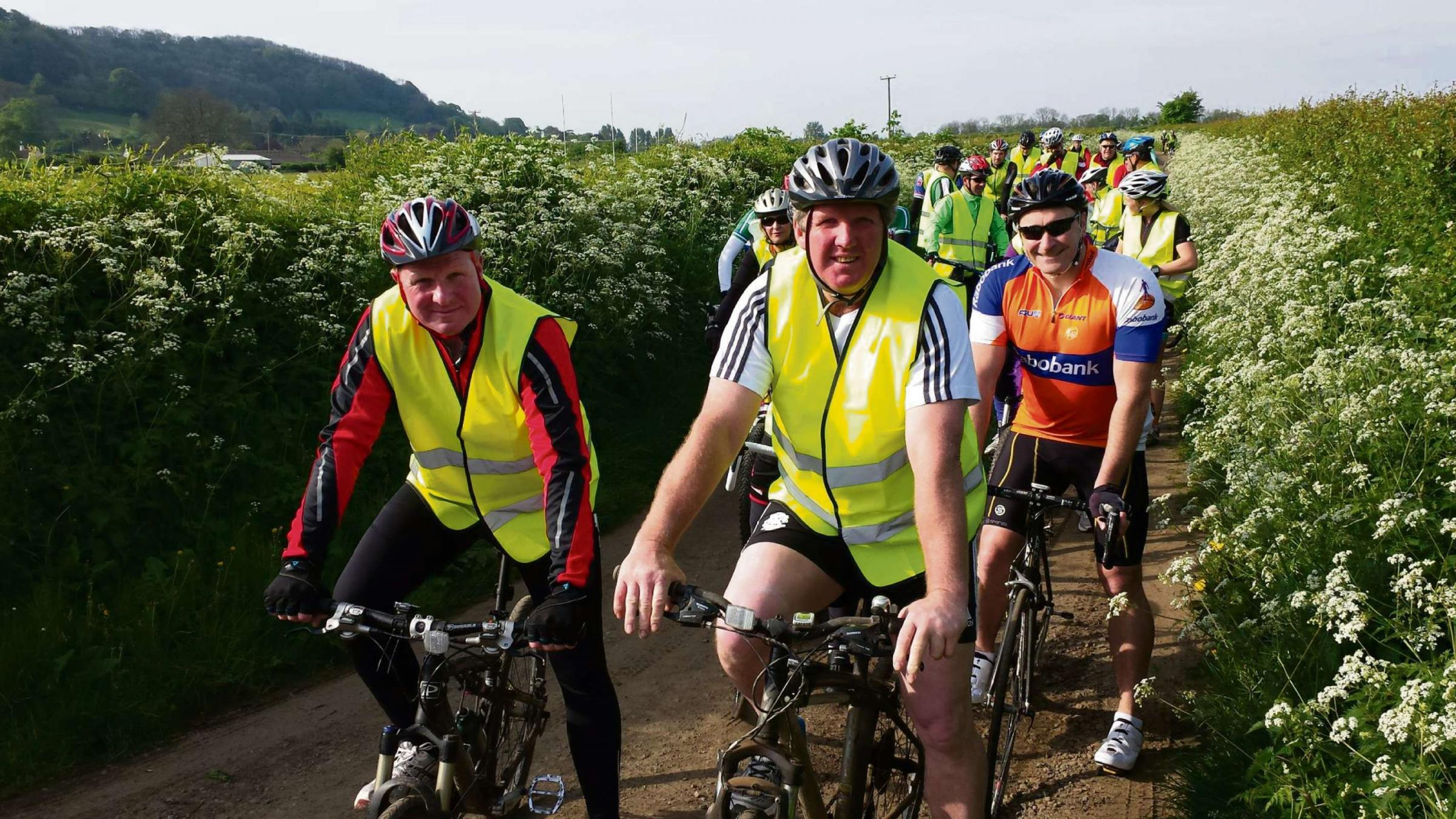 Scores of people took part in Cycle4Rob to raise funds for Rob Camm (6580795)