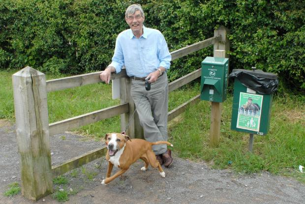 Gazette Series: David Shipp by one of the dog bins on The Ridings in Chipping Sodbury