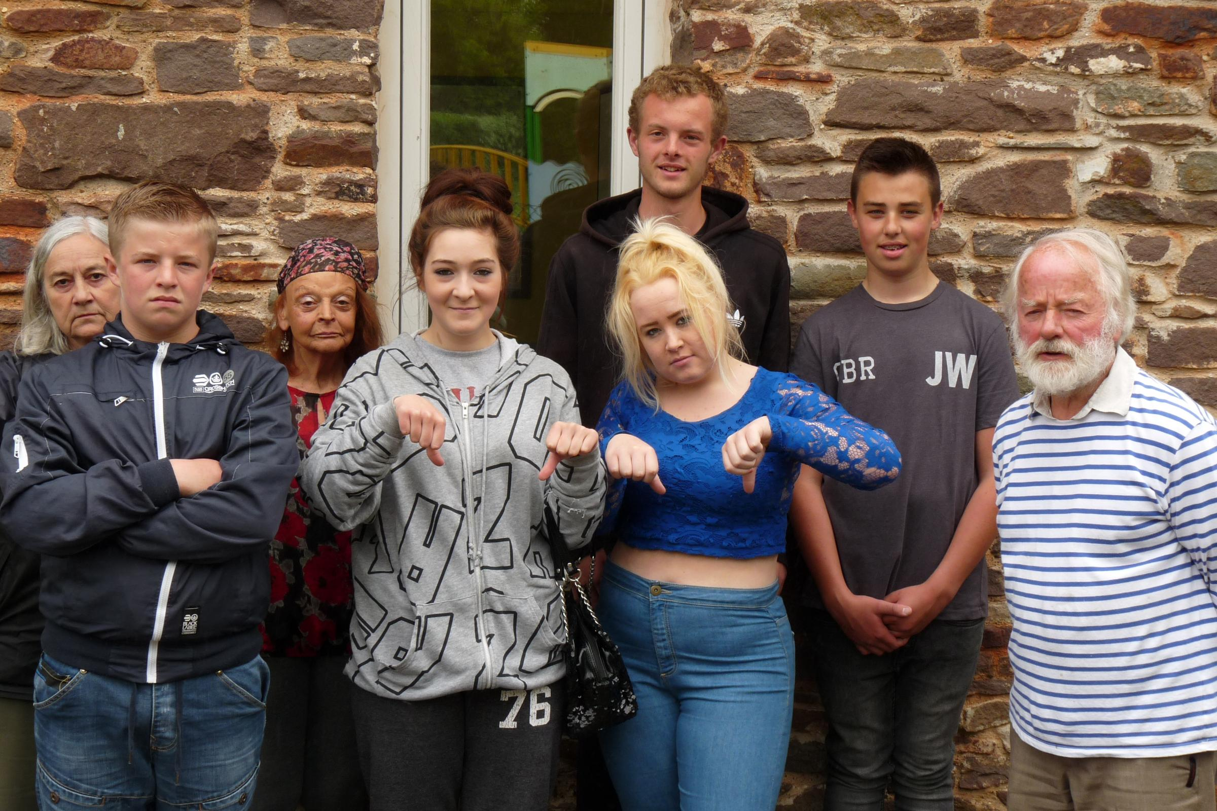 Jen Dunford, from Frampton Cotterell Village Action, Cllrs Pat and Dave Hockey with young people who attended Brockeridge Youth Centre