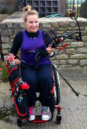 GB archer Chloe Ball in her new wheelchair