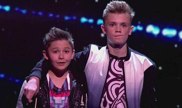 Leondre Devries and Charlie Lenehan at the final of Britain's Got Talent