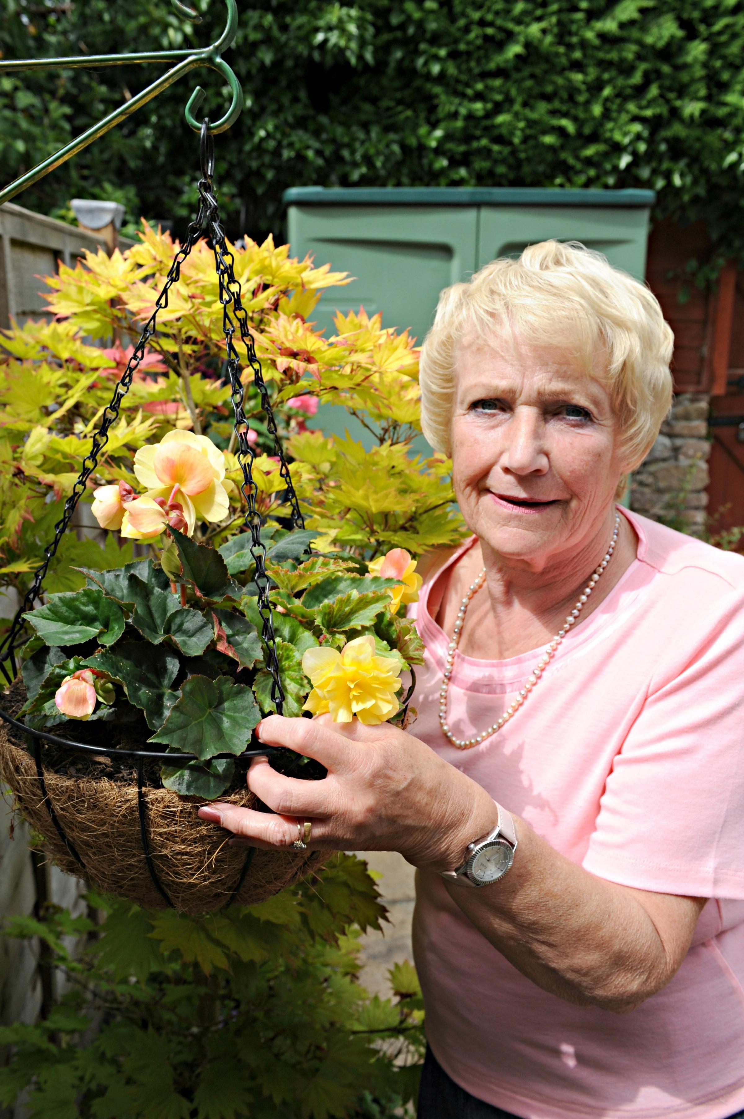 Thornbury hanging basket reunited with owners