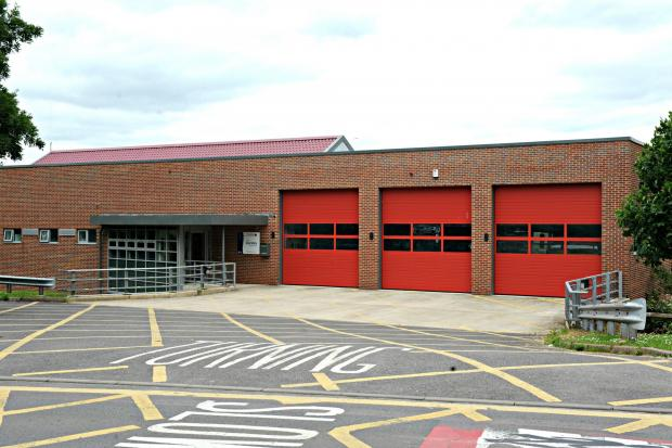 Dursley Community Fire and Rescue Station where the unused hovercraft has been based since 2007 (7200213)