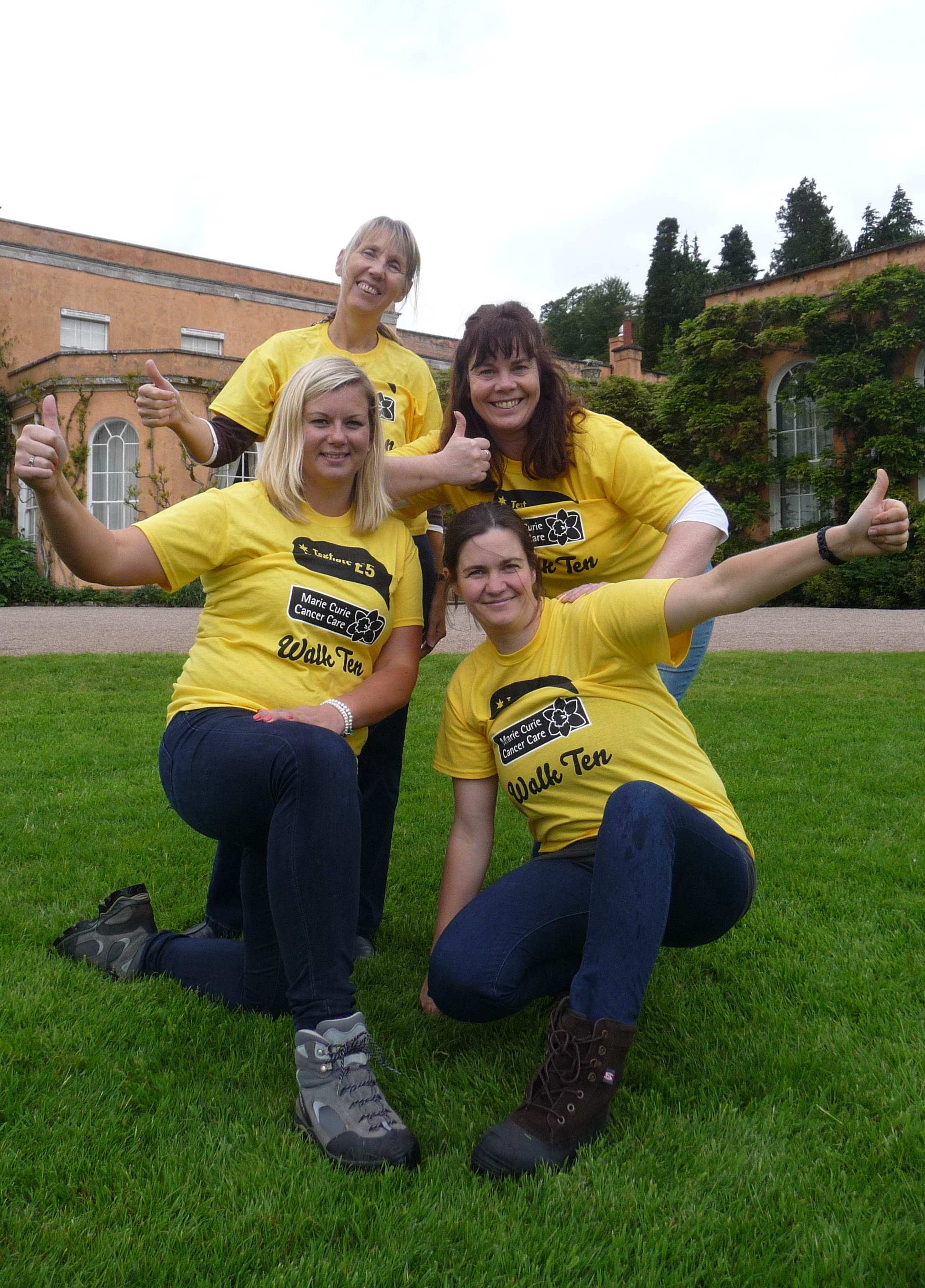 Fundraisers prepare for the Walk Ten event on the Badminton Estate