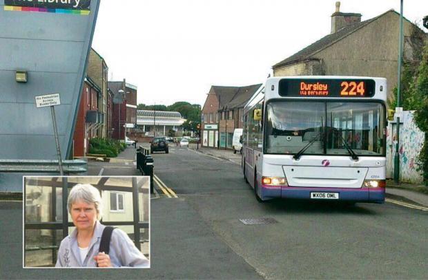 Regular 224 passenger Heidi Westerlage from Silver Street in Dursley is renewing the campaign to keep the vital bus route going (7276871)