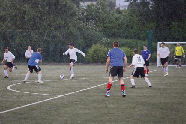 Gazette Series: Three airports have battled it out in a charity football match at Rednock School in Dursley (7453716)