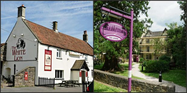 The White Lion and The Lawns pubs in Yate