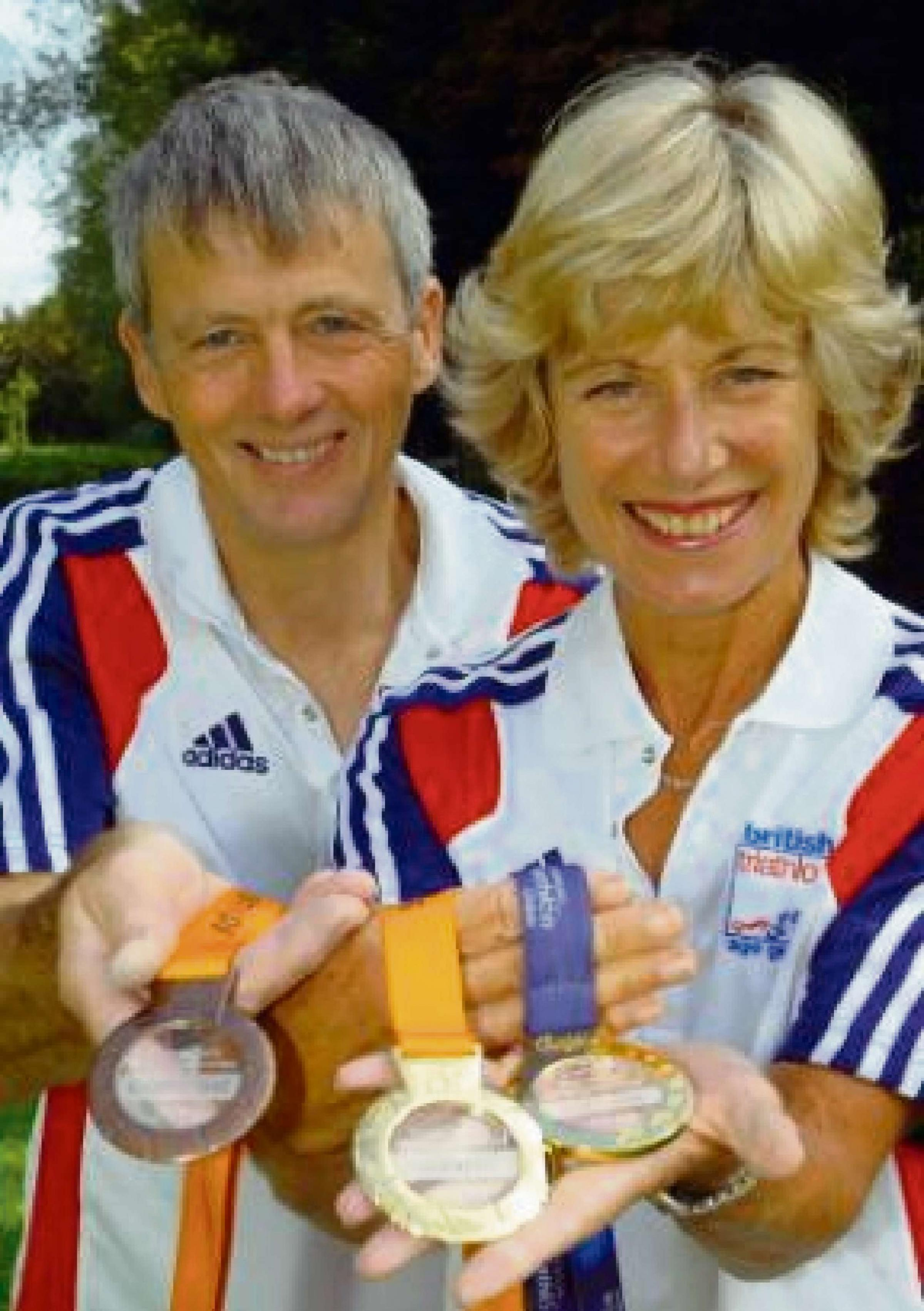 Thornbury runners Jon Greenwood and Jane Leslie