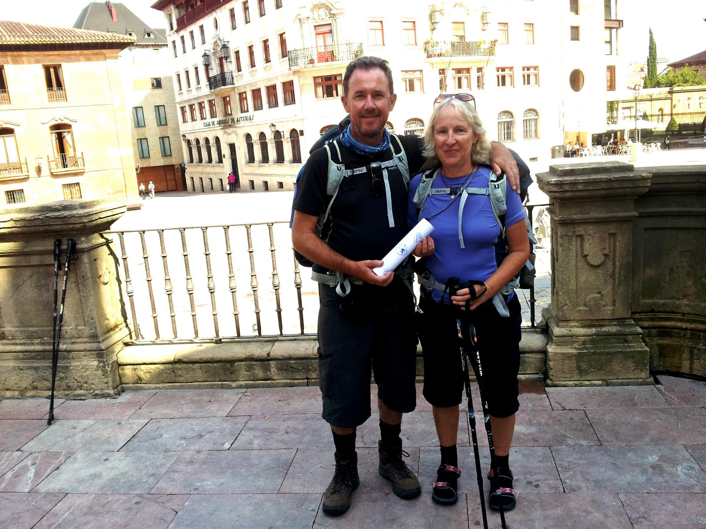 Former Rednock teacher John Conway and his wife Helen are set to take part in the 550km European Peace Walk as part of commemorations of the F
