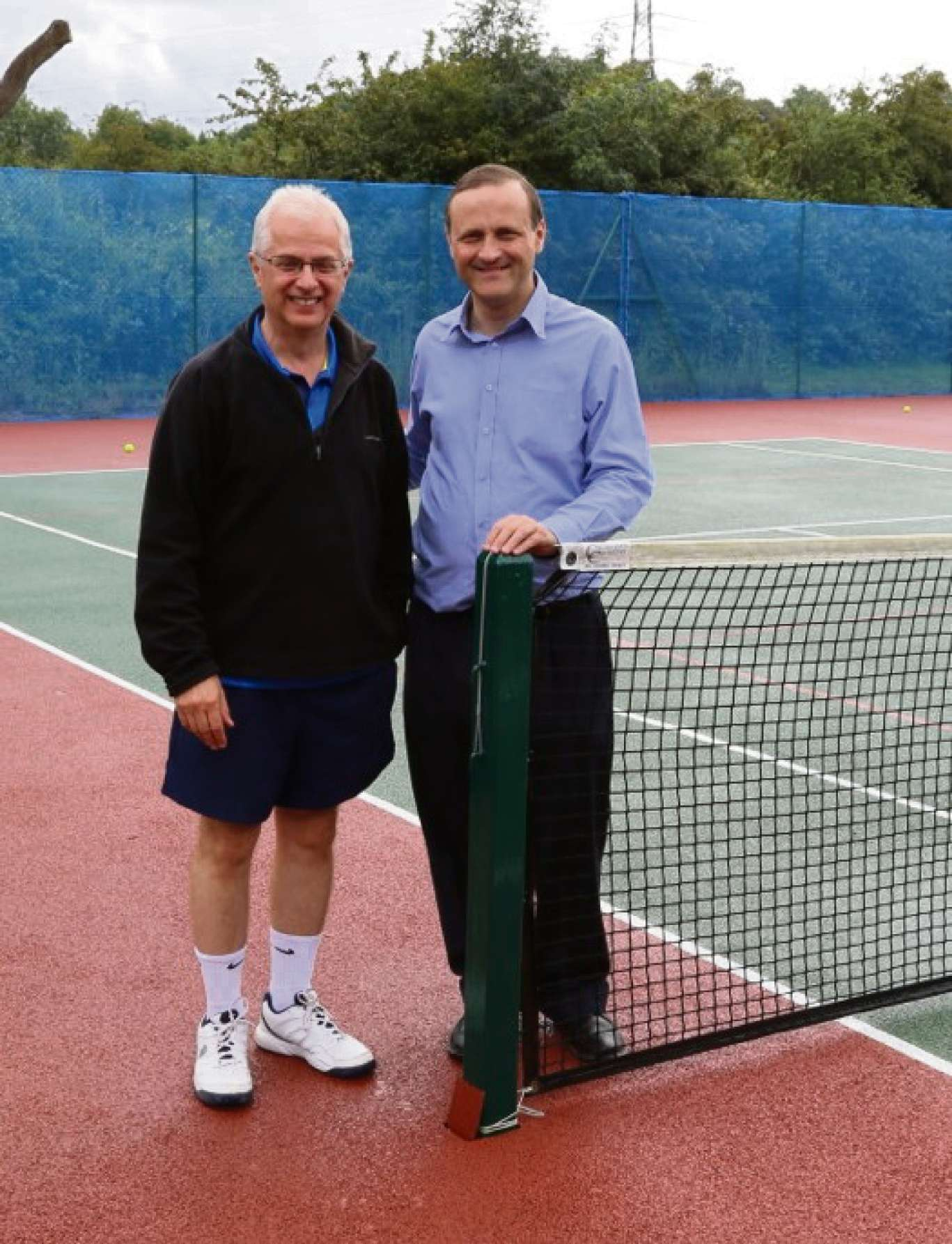 Thornbury and Yate MP Steve Webb with David Attwood, vice chairman of Thornbury Tennis Club, at the club's open day  (7677992)