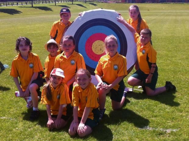 North Nibley's Archery team. Picture by Jo Mead