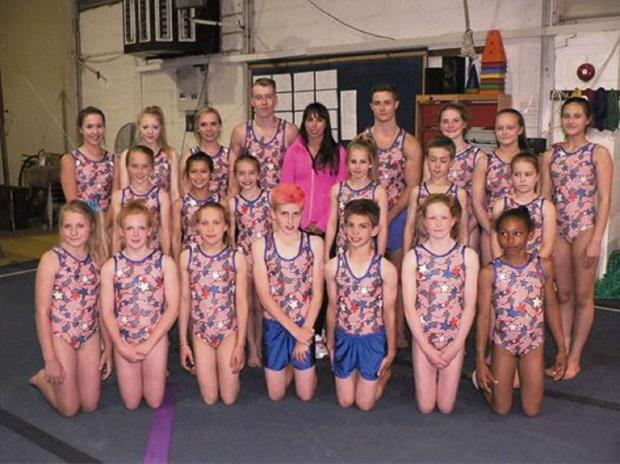 Gazette Series: Beth Tweddle with members of Fromeside Gymnastics Club