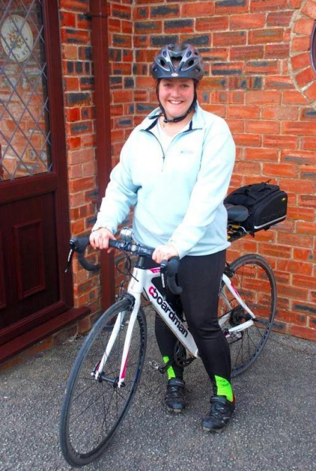Gazette Series: Yate woman cycles bredth of the UK in memory of relatives with Alzheimer's